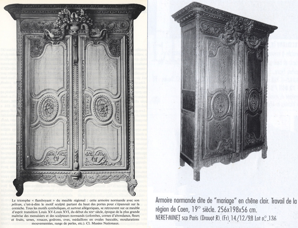 armoire normande de mariage bayeux. Black Bedroom Furniture Sets. Home Design Ideas