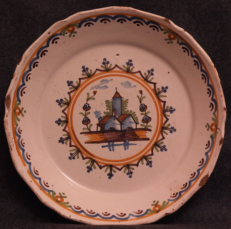 Assiette-en-faience-de-Nevers-epoque-revolutionnaire