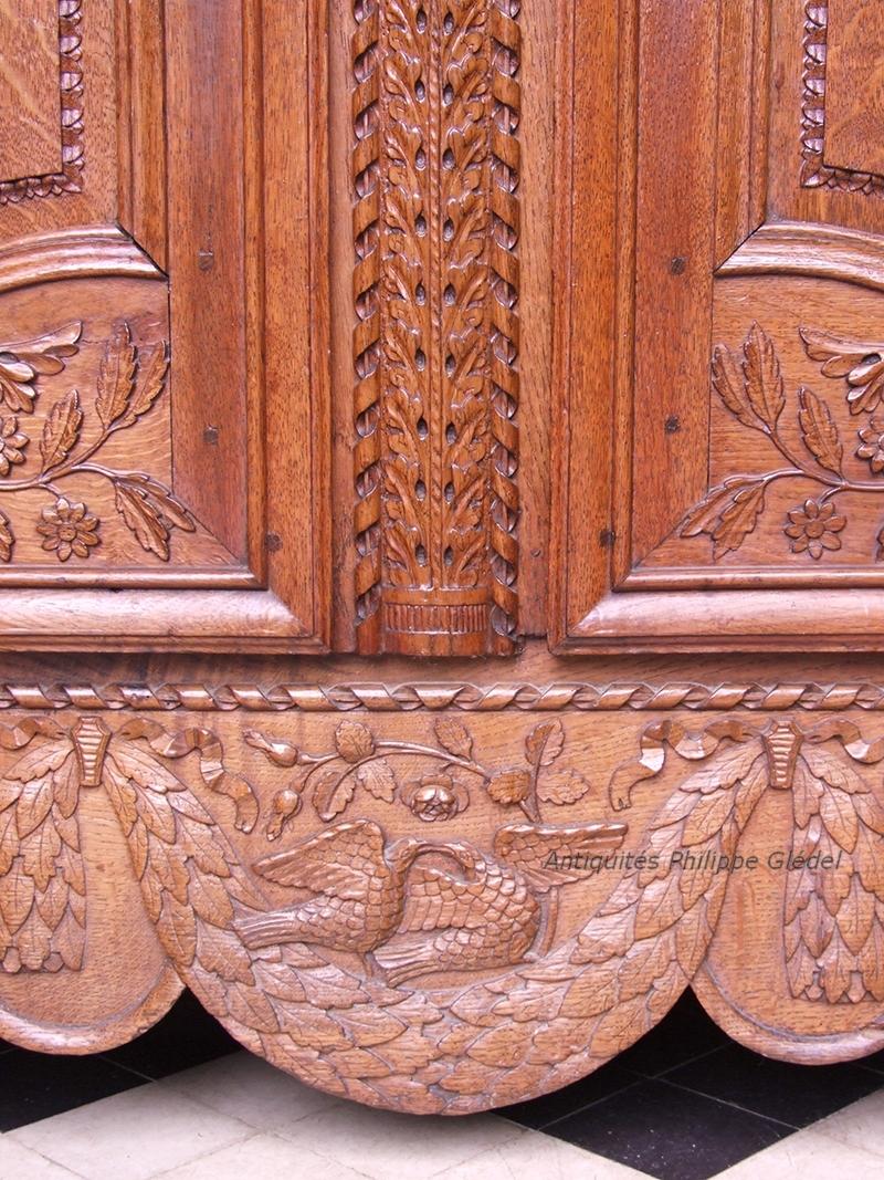 armoire normande de mariage viroise - vire - basse-normandie