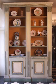 Neo-classic-bookcase-in-the-Louis-XVI-style-lacquered-rechampi