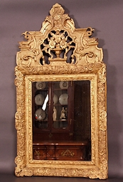Gilded-wood-Louis-XIV-mirror-early-1700's