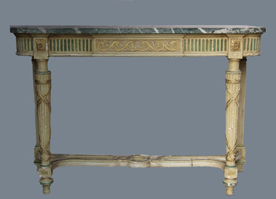 Green-Campan-marble-neo-classical-console