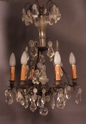 Bronze-and-crystal-drops-chandelier